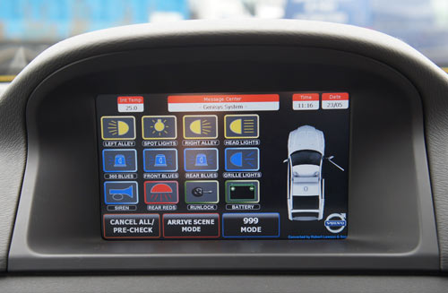 genisys Touchscreen video-built into Volvo XC70 dashboard